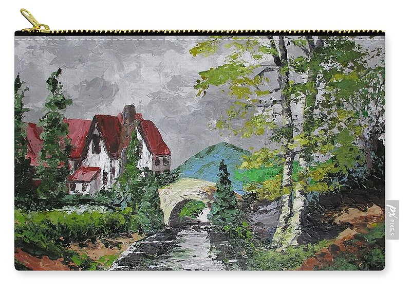 Country Carry-all Pouch featuring the painting Melody Of A Dream by Angela Grey