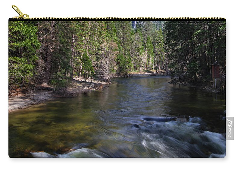 Merced River Carry-all Pouch featuring the photograph Merced River, Yosemite National Park by Yefim Bam