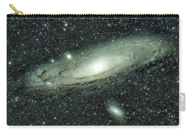 Space Carry-all Pouch featuring the photograph Messier 31, Andromeda Galaxy by Nunzio Mannino