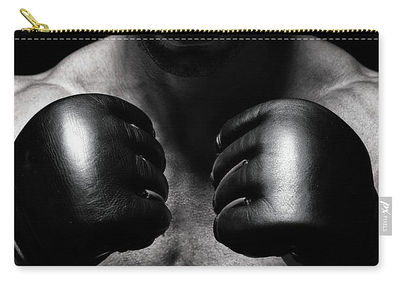 Toughness Carry-all Pouch featuring the photograph Mma Fighter by Vuk8691