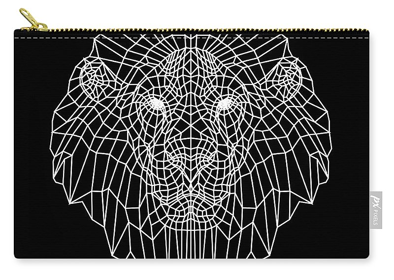 Lion Carry-all Pouch featuring the digital art Night Lion by Naxart Studio
