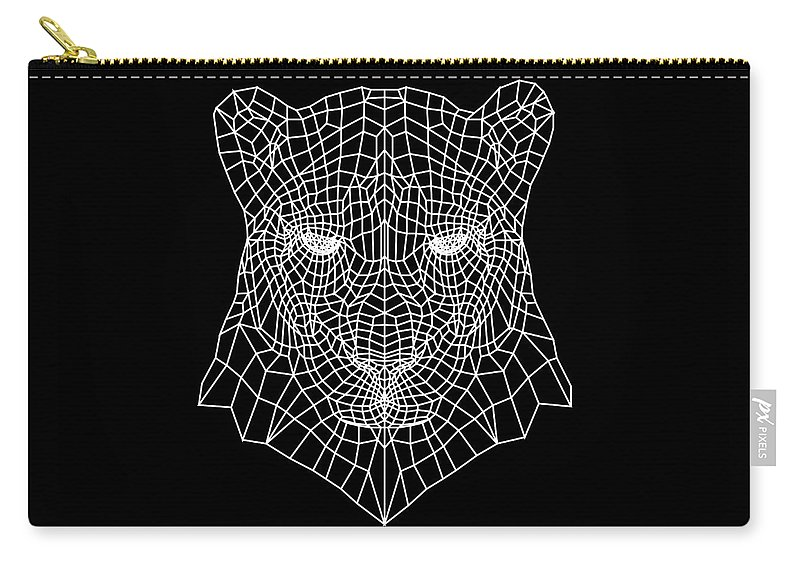 Panther Carry-all Pouch featuring the digital art Night Panther by Naxart Studio
