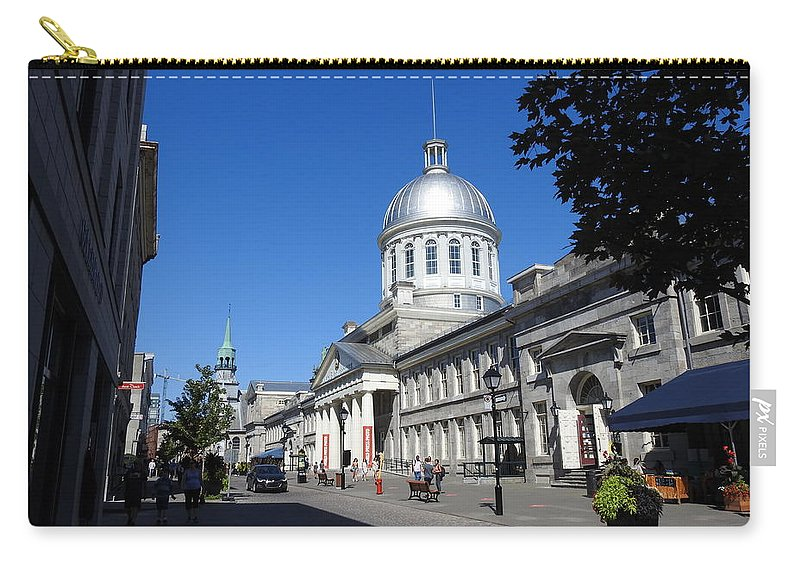 Old Montreal Market Carry-all Pouch featuring the photograph Old Montreal Market by David Gorman