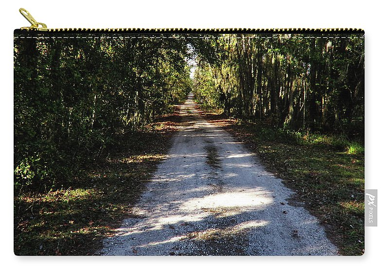 Roads Carry-all Pouch featuring the photograph Dirt Road by Roger Epps