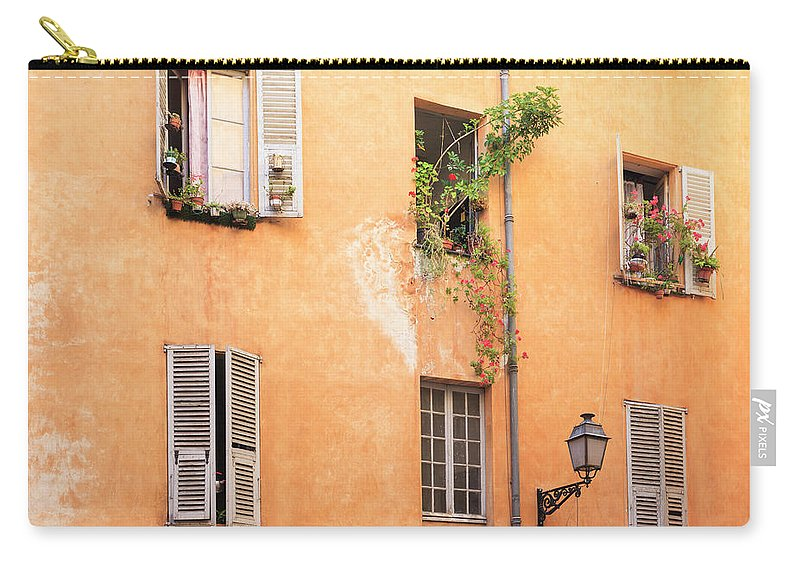 Orange Color Carry-all Pouch featuring the photograph Old Town Of Nice, French Riviera, France by Aprott