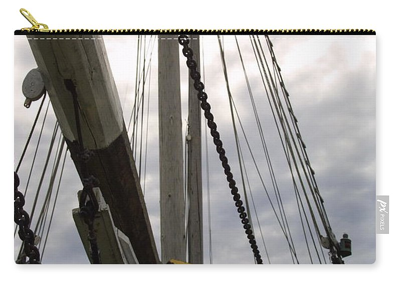Chains And Ropes Wood Viking Vessel Carry-all Pouch featuring the photograph Old Viking Vessel by Darren Dwayne Frazier