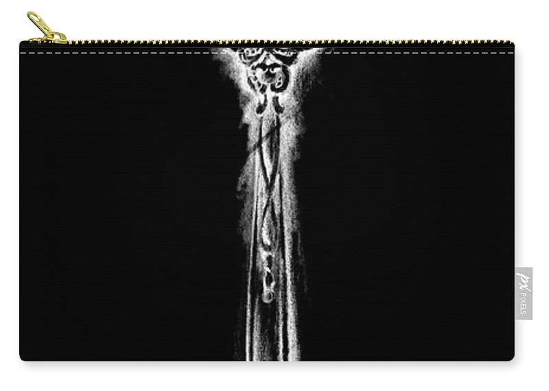 Kitchen Carry-all Pouch featuring the painting Ornate Cutlery On Black II by Ethan Harper