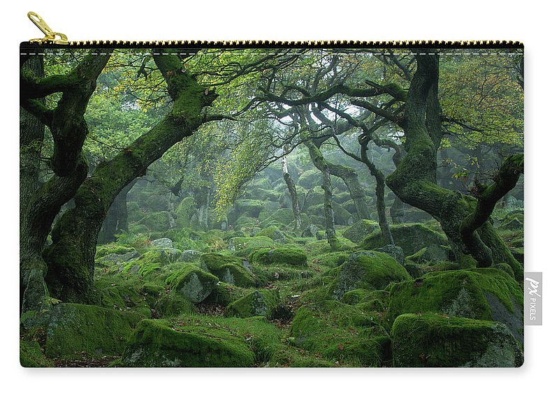 Tranquility Carry-all Pouch featuring the photograph Padley Gorge by Duncan Fawkes