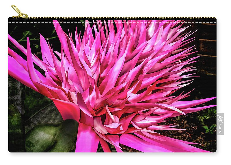Plant Carry-all Pouch featuring the digital art Pink Princess Bromeliad by Joseph Vittek