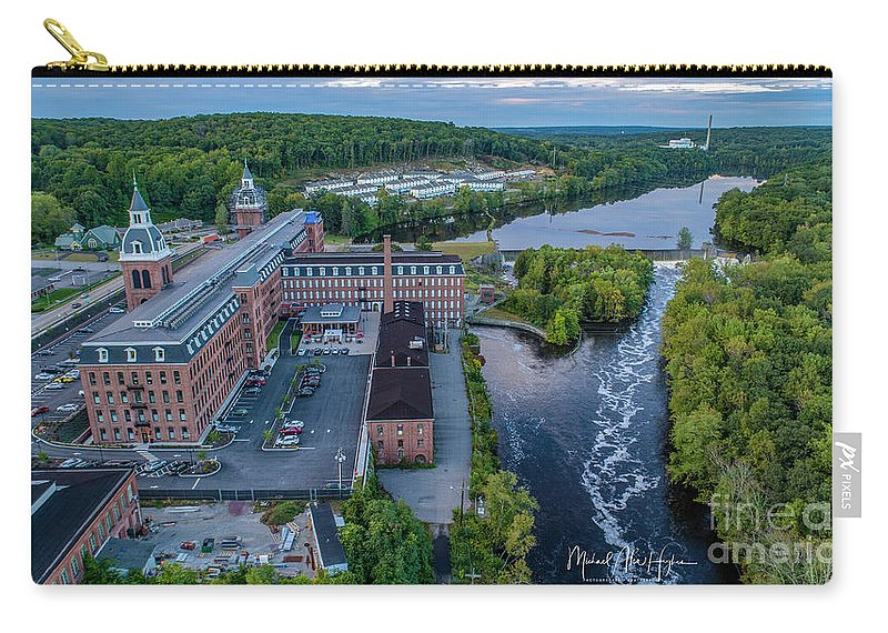 Ponemah Mill Carry-all Pouch featuring the photograph Ponemah Mill by Michael Hughes
