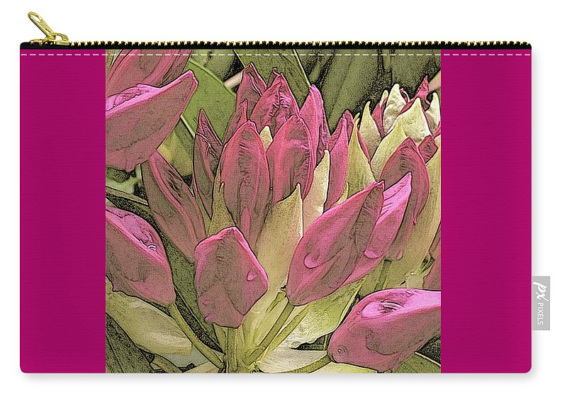 Flowers Carry-all Pouch featuring the digital art Rhododendron by Barbara Brace