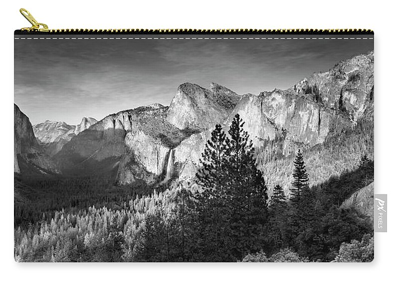 Scenics Carry-all Pouch featuring the photograph Rocky Mountains Overlooking Rural by Chris Clor