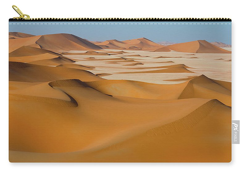 Tranquility Carry-all Pouch featuring the photograph Rub Al-khali Empty Quarter by All Rights Reserved For Ahmed Al-shukaili