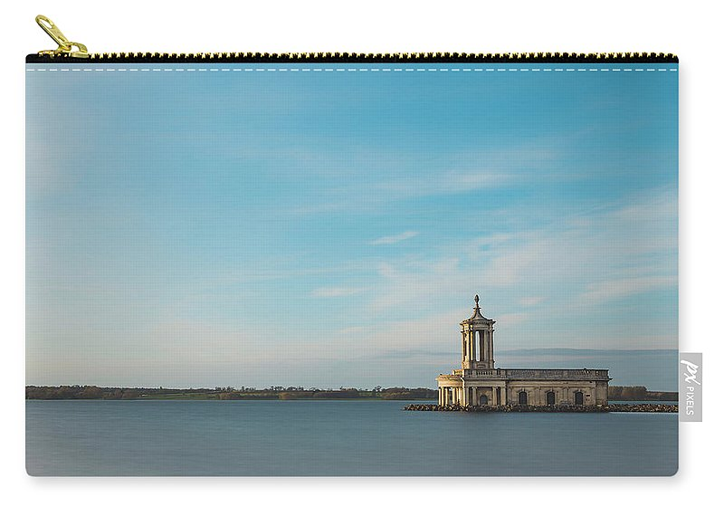 Building Carry-all Pouch featuring the digital art Rutland Water by Dariusz Stec