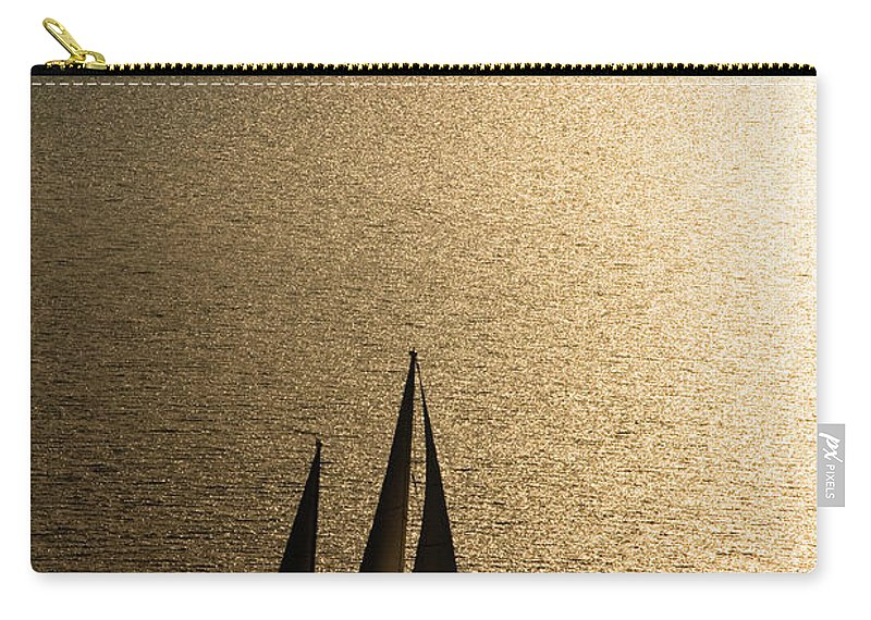Curve Carry-all Pouch featuring the photograph Sailing At Sunset by Mbbirdy