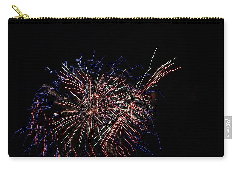 Fireworks Carry-all Pouch featuring the photograph Saint Louis Riverfront 4th Of July by Carol Jackson