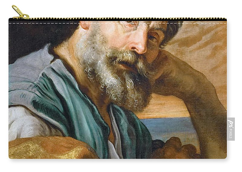 Domenico Fetti Carry-all Pouch featuring the painting Saint Peter Repenting by Domenico Fetti