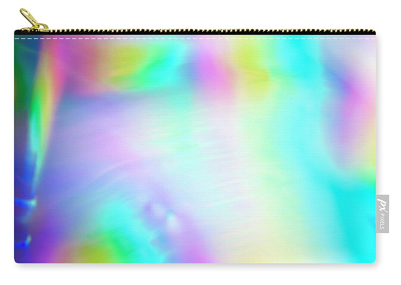 Yellow Carry-all Pouch featuring the photograph Shiny Multi Colored Background by Level1studio