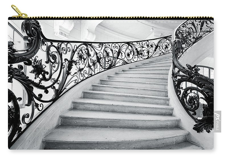 Steps Carry-all Pouch featuring the photograph Staircase In Paris by Nikada
