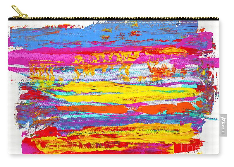 Sunrise Carry-all Pouch featuring the painting Tequila Sunrise by Bjorn Sjogren