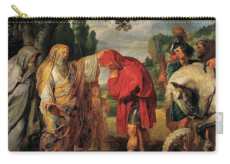 Peter Paul Rubens Carry-all Pouch featuring the painting The Consecration Of Decius Mus    by Peter Paul Rubens