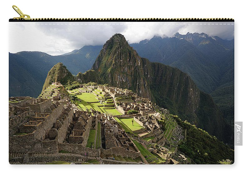 Disbelief Carry-all Pouch featuring the photograph The Lost Inca City Of Machu Picchu by Elmvilla
