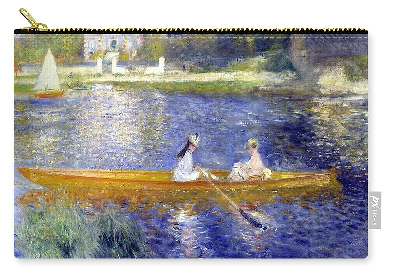 Pierre-auguste Renoir Carry-all Pouch featuring the painting The Skiff La Yole  by Pierre Auguste Renoir