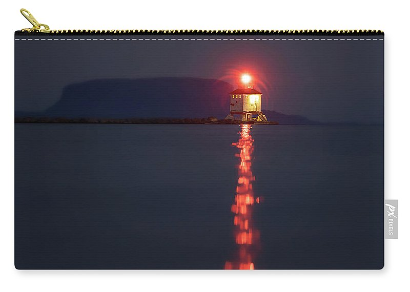 Abstract Carry-all Pouch featuring the photograph Thunder Bay Harbour Lighthouse by Jakub Sisak