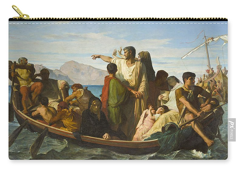 Felix Joseph Barrias Carry-all Pouch featuring the painting Tiberius Exiles by Felix Joseph Barrias