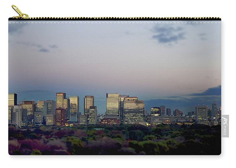 Financial District Carry-all Pouch featuring the photograph Tokyo Marunouchi by Vladimir Zakharov