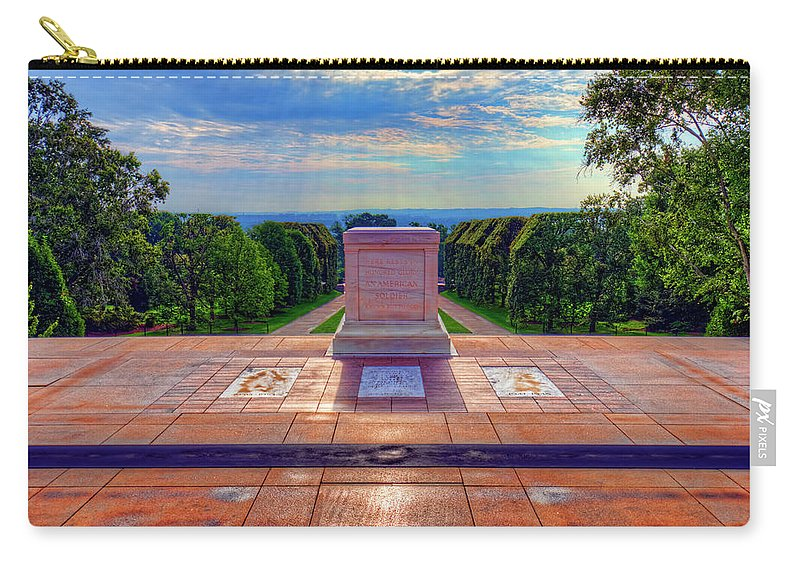 Craig Fildes Photography Carry-all Pouch featuring the photograph Tomb Of The Unknown Soldier by Craig Fildes