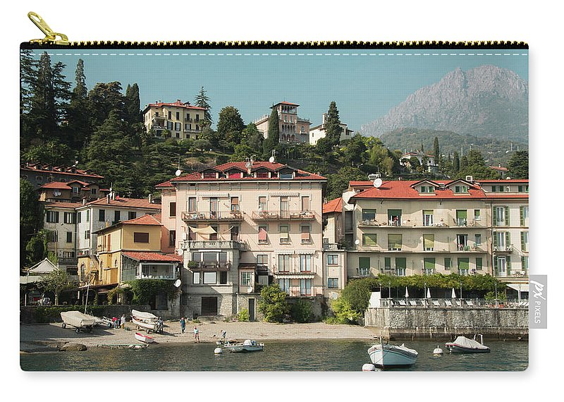 Landscape Carry-all Pouch featuring the photograph Town In The Shore Of Lake Como by Guillermo Lizondo