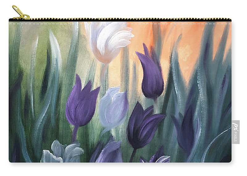 Tulip Carry-all Pouch featuring the painting Tulips by Gina De Gorna