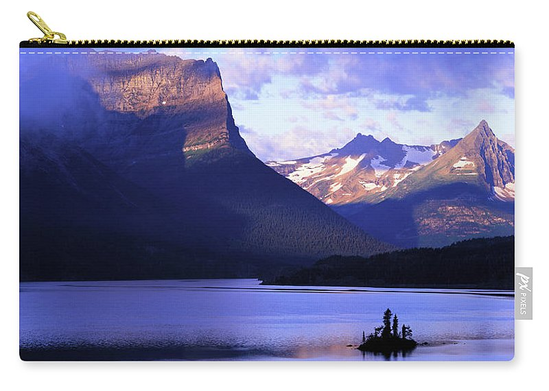 Scenics Carry-all Pouch featuring the photograph Usa, Montana, Glacier Np, Mountains by Paul Souders