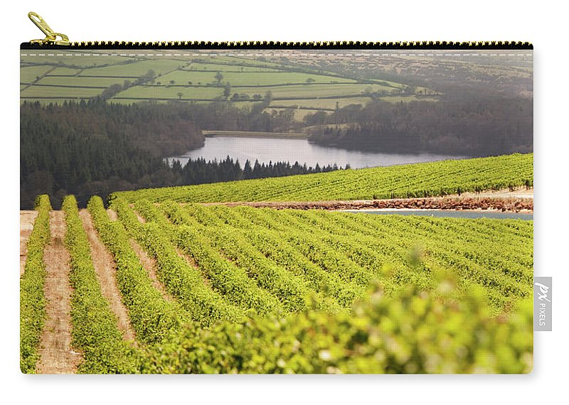 Scenics Carry-all Pouch featuring the photograph Vineyard At Sunset by Lockiecurrie