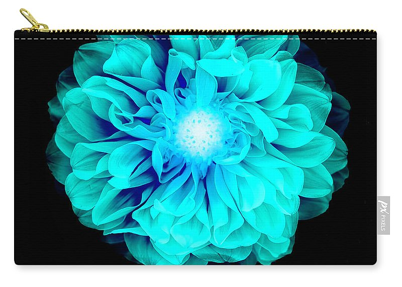 Black Color Carry-all Pouch featuring the photograph X-ray Like Image Of A Flower by Chris Parsons