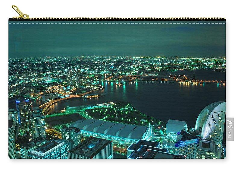 Yokohama Carry-all Pouch featuring the photograph Yokohama by Copyright Artem Vorobiev