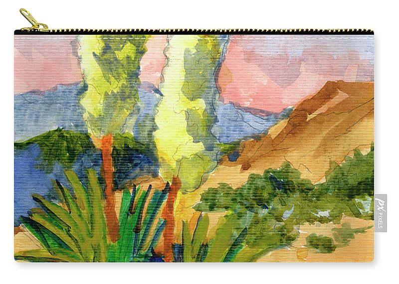 Yuccas Carry-all Pouch featuring the painting Yuccas by Diane McClary