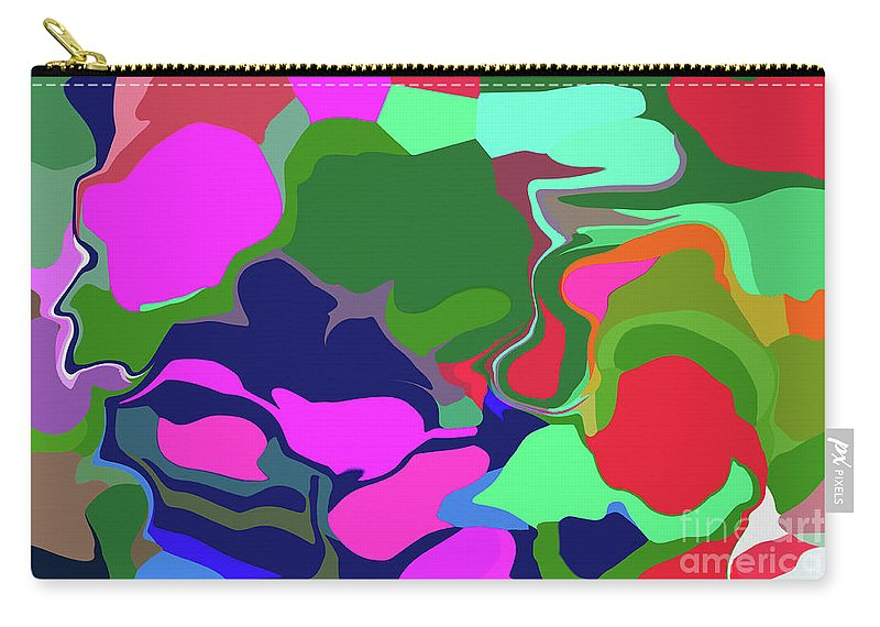 Walter Paul Bebirian Carry-all Pouch featuring the digital art 10-19-2008abcd by Walter Paul Bebirian