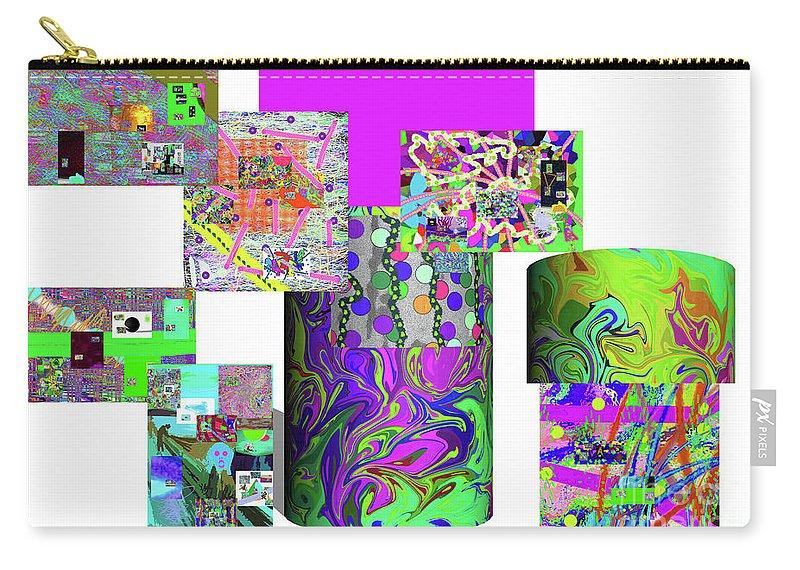 Walter Paul Bebirian Carry-all Pouch featuring the digital art 10-21-2015cabcdefghijklmnopqr by Walter Paul Bebirian