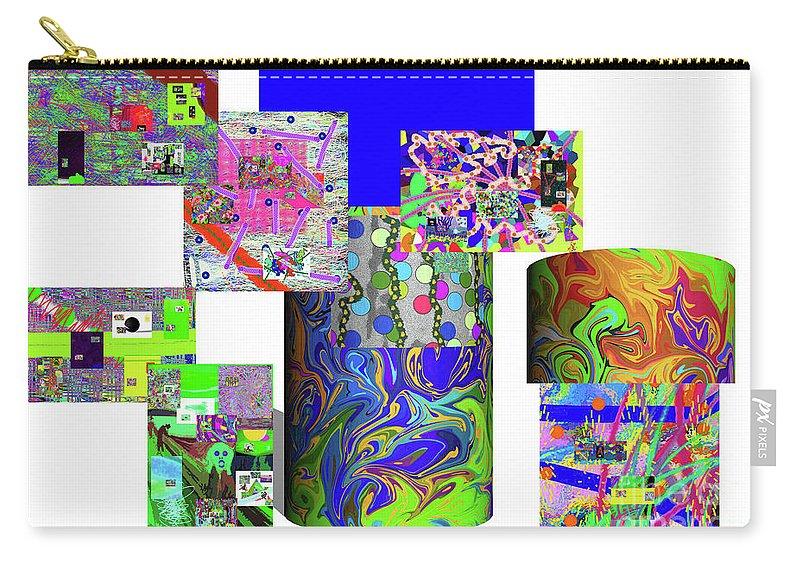 Walter Paul Bebirian Carry-all Pouch featuring the digital art 10-21-2015cabcdefghijklmnopqrtuvwx by Walter Paul Bebirian