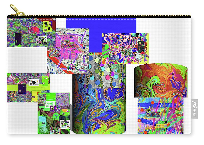 Walter Paul Bebirian Carry-all Pouch featuring the digital art 10-21-2015cabcdefghijklmnopqrtuvwxy by Walter Paul Bebirian
