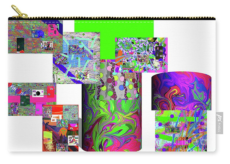 Walter Paul Bebirian Carry-all Pouch featuring the digital art 10-21-2015cabcdefghijklmnopqrtuvwxyzabcdefghij by Walter Paul Bebirian