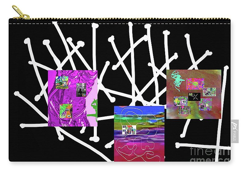 Walter Paul Bebirian Carry-all Pouch featuring the digital art 10-22-2015ba by Walter Paul Bebirian