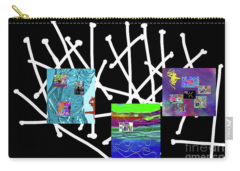 Walter Paul Bebirian Carry-all Pouch featuring the digital art 10-22-2015babcdefghijkl by Walter Paul Bebirian