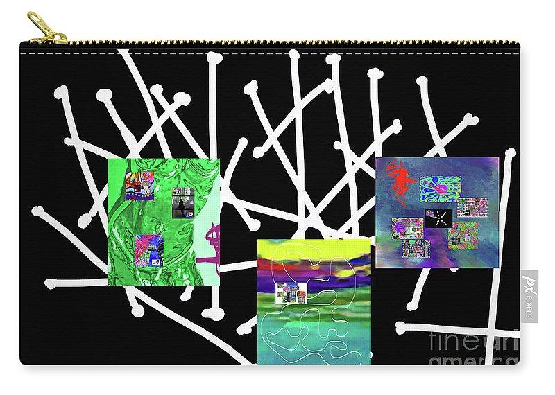 Walter Paul Bebirian Carry-all Pouch featuring the digital art 10-22-2015babcdefghijklmnopq by Walter Paul Bebirian