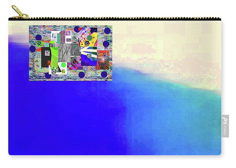 Walter Paul Bebirian Carry-all Pouch featuring the digital art 10-31-2015abcdefghijklmnopqrtuvwxy by Walter Paul Bebirian