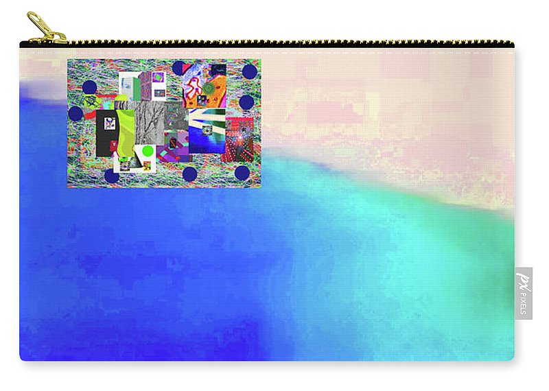Walter Paul Bebirian Carry-all Pouch featuring the digital art 10-31-2015abcdefghijklmnopqrtuvwxyza by Walter Paul Bebirian