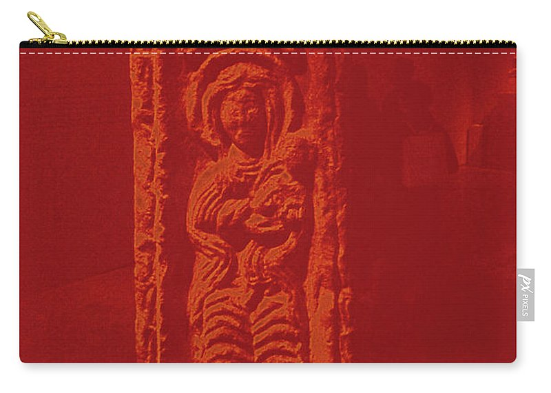 Walter Paul Bebirian Carry-all Pouch featuring the digital art 10-5-2018g by Walter Paul Bebirian