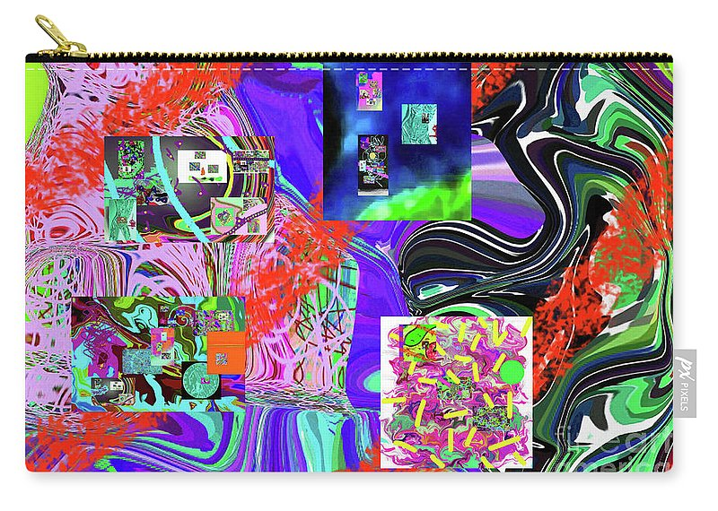 Walter Paul Bebirian Carry-all Pouch featuring the digital art 11-8-2015babcdefghijklmn by Walter Paul Bebirian